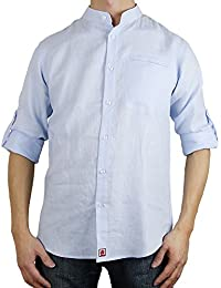 Sinologie - Camisa casual - cuello mao - para hombre