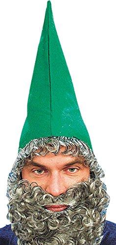 Erwachsene Weihnachten Fancy Dress Party Accessory Herren Zwerg Mütze mit angenähtem Bart UK Gr. Einheitsgröße, (Erwachsene Uk Zwerg Kostüme Für)