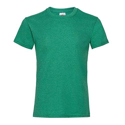 Fruit of the Loom Mädchen T-Shirt, Kurzarm (5-6 Jahre, Retro Heidekraut Grün) (Kinder T-shirt Leichte 6)