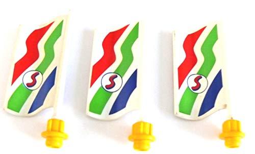 playmobil ® - 3 Fahnen S Flaggen - Supermarkt Fahne Flagge aus 3200 Shopping Center