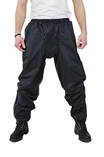 Nerve S-Easy Pantalones Impermeables de Moto, Negro, 3XL