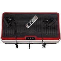 Christopeit Vibro 2 Vibrationstrainer, Silber/Schwarz/Rot, 65 x 40 x 13 cm
