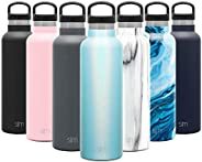 Simple Modern Ascent Water Bottle - Narrow Mouth, Vacuum Insulated, Double Wall, 18/8 Stainless Steel Powder C