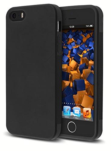 mumbi double GRIP Hülle für iPhone SE 5S 5 Schutzhülle schwarz
