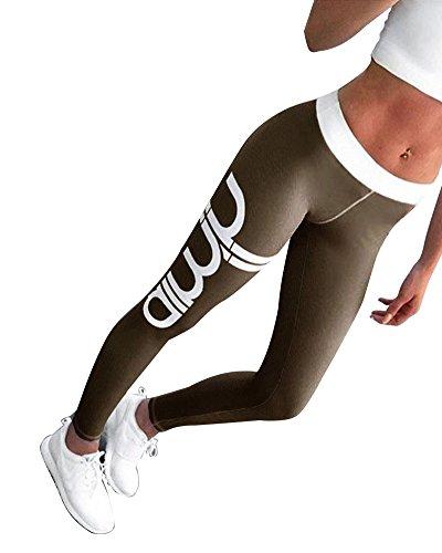 Outgobuy Frauen Active Workout Athletic Running Plus Size Yoga Leggings (Plus Size Workout Hose)