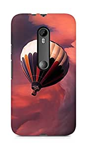 Amez designer printed 3d premium high quality back case cover for Moto G Turbo Edition (Flight balloon sky)