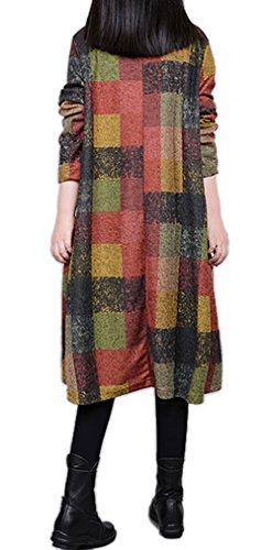 ... Ammy Fashion, Damen-Kleid mit Rollkragen, unregelmäßig kariert, aus Jersey  Grn