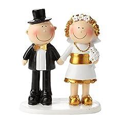 Idea Regalo - Statuetta per torte, per 50° anniversario di matrimonio, nozze d'oro, adatta anche come centrotavola