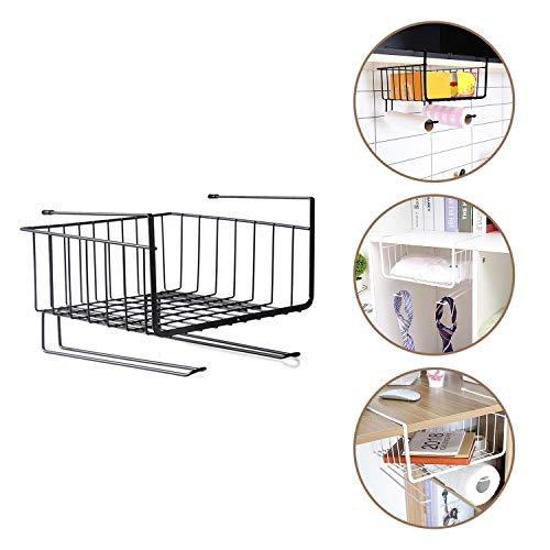 Kurtzy Under Shelf Hanger Basket Steel Wire Rack Storage for Kitchen & Bathroom Organizer Assorted Colours 28.5 x 26 x 19.5 CM