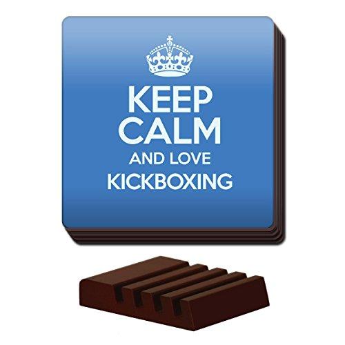 Blau Set von 4Keep Calm und Love Kickboxen Untersetzer Farbe 0915