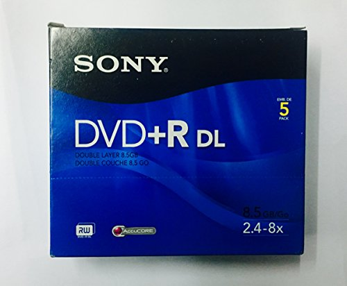 SONY DVD+R DL 8.5GB PACK OF 5
