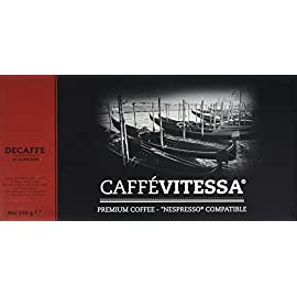 Caffe Vitessa Nespresso Compatible Decaffeinated Coffee Capsules (Pack 50 Capsules)
