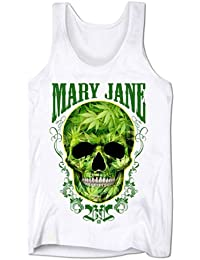 Débardeur Homme Blunts N B*tches Mary Jane Weed Crâne