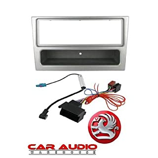 T1 Audio T1-CTK1901S - Vauxhall Astra H 2005 Onwards Complete Car Stereo Fitting Kit. Silver Single Din Facia, Release Keys, ISO Aerial Adaptor.