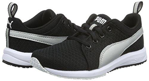 Puma - Carson Mesh PS, Scarpe da ginnastica Unisex – Bambini Nero (BLACK/SILVER 01BLACK/SILVER 01)