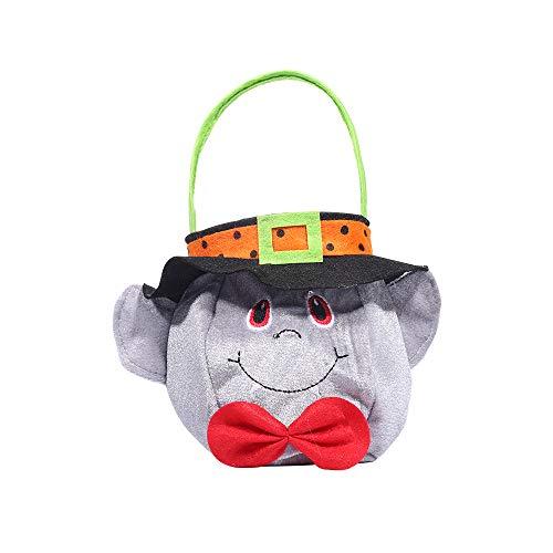 Hut Cartoon Halloween Korb Holiday Decor Tote Bag Trick or Leckereien Kekse Vampire ()