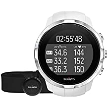 Suunto Spartan Sport HR SS022650000 - Reloj GPS para Atletas Multideporte, 10 h Batería, Resistente al agua, Monitor Frecuencia Cardiaca + Cinturón FC, Pantalla Táctil en Color, Blanco