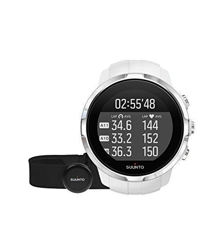Suunto Spartan Sport HR - Reloj GPS para Atletas Multideporte, 10 h Batería, Resistente al agua, Monitor Frecuencia Cardiaca + Cinturón FC, Pantalla Táctil en Color, Blanco, SS022650000