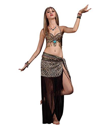SunWanyi Damen Sexy Bauchtanz Performance Rock Anzug Tribal Oriental Arabian Belly Dance Rock Anzug(Referenz ()