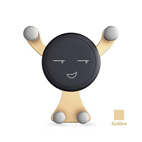 QIHANGCHEPIN Handy-Halter für Auto, Schwerkraft Auto-Klemmung Air Vent Auto-Telefon-Halterung Halter Cradle für iPhone X / 8/8 Plus / 7/7 Plus Samsung Galaxy S9 / S9 Plus / S8 / S8 Plus und mehr - ( Farbe : Gold )