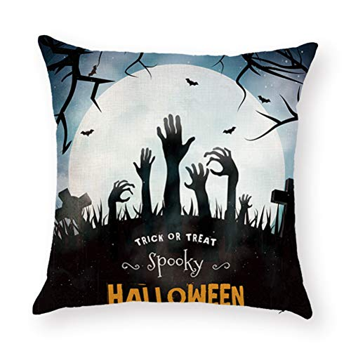 ZGMWXW@ 2er Set Halloween Baumwolle Leinen 45X1234cm Sofa Büro Dekor Kissenhuelle
