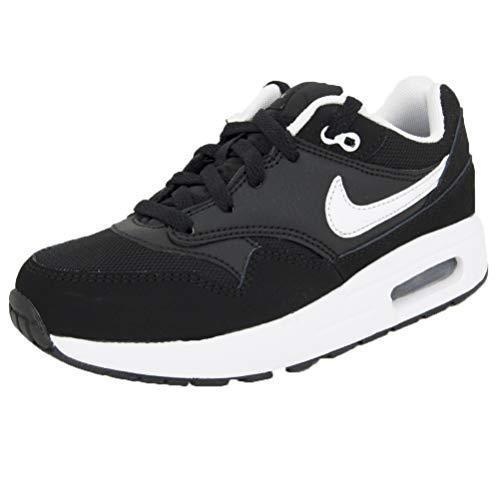 Nike Unisex-Kinder AIR MAX 1 (TD) Traillaufschuhe, Schwarz (Black/White 001), 27 EU