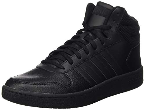 adidas Hoops 2.0 Mid, Chaussures de Basketball homme - Noir (Core Black/Core Black/Core Black Core Black/Core Black/Core Black), 44 EU (9.5 UK)