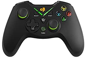 Cosmic Byte C3070W Nebula 2.4G Wireless Gamepad for PC/PS3 supports Windows XP/7/8/10, Rubberized Texture