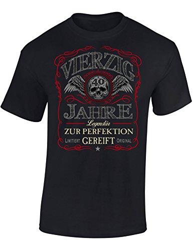 Geburtstags Shirt: 40 Jahre Legendär -Vierzig-Ster Geburtstag T-Shirt - Geschenk zum 40. - Frau-en - Mann Männer - Damen & Herren - Lustig - Birthday - Jahrgang 1979 (XL)