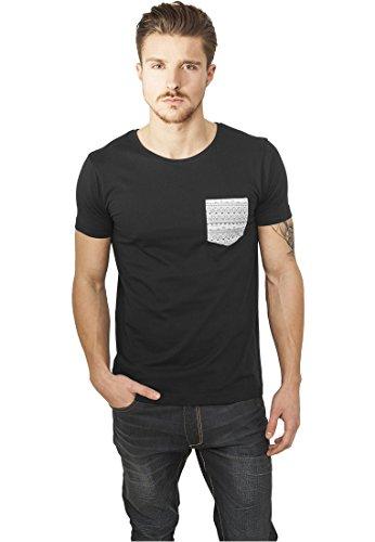 Urban Classics -  T-shirt - Maniche corte  - Uomo blk/aztec