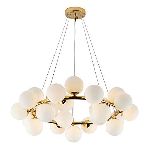 EUJEID Lámparas De Araña Moderna, Lámpara Colgante De Oro Minimalista Europeo Sputnik Lámpara De Techo Decorativo De Metal para Interiores para La Sala Comedor Dormitorio Cocina, 24