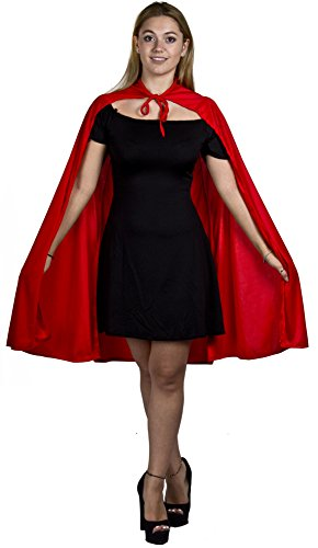 Damen Super Hero Cape Halloween Fancy Dress Kostüm Accesssory ideal für Comic Figuren, Super Villains, Buchen Woche von Ilovefancydress® - Heavy Deluxe Material