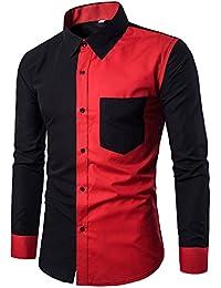 Herren Hemd Slim Fit Langarm Bügelleicht Modernes Langarmhemd Businesshemd Freizeithemd für Anzug Business Langarmshirt Bluse