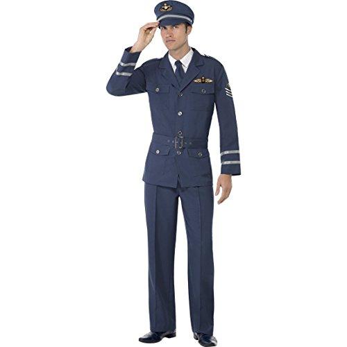(NET TOYS Pilotenkostüm Flieger Kostüm Pilot L 52/54 Piloten Outfit Fliegerkostüm Air Force Flugkapitän Verkleidung)