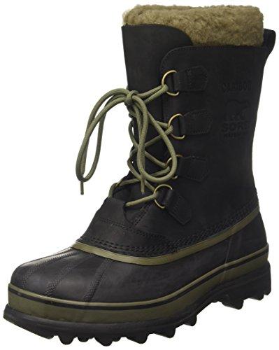 Sorel Caribou Wl, Botas de Nieve para Hombre, Negro (Black/Nori), 43.5 EU