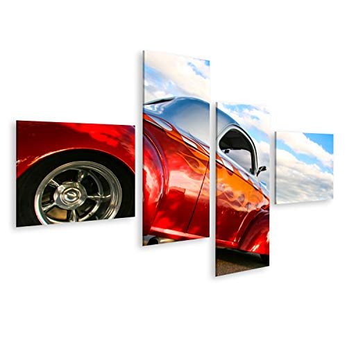 Bild Bilder auf Leinwand DENVER USA - 19 JUNI 2008: Oldtimer auf der Burger King Classic Car Show in Denver Burger King Classic Car Shows sind jeden Donnerstagabend den ganzen Sommer über kostenlos Wandbild Poster Leinwandbild TNS -