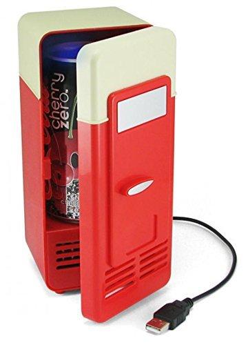 ducomi® Minibar–Mini Kühlschrank für Speisen Notebook mit Stromversorgung USB–kühlt Ihre Getränke und ihre Getränke–ideal für Büro, Camping, Garage und Kinderzimmer–19.5x 8.3x 9.4cm