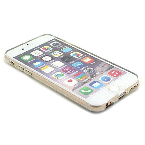 JIAXIUFEN Neue Modelle TPU Silikon Schutz Handy Hülle Case Tasche Etui Bumper für Apple iPhone 6 6S - Amüsant Wunderlich Design Giraffe eating Apple Color01