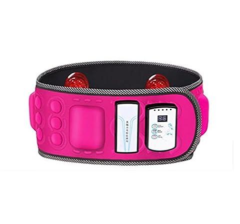 D&F Vibration Ceinture de massage double usage chaude Garder votre corps en forme Extreme - Perte de poids rapide / Gestion minceur , Pink