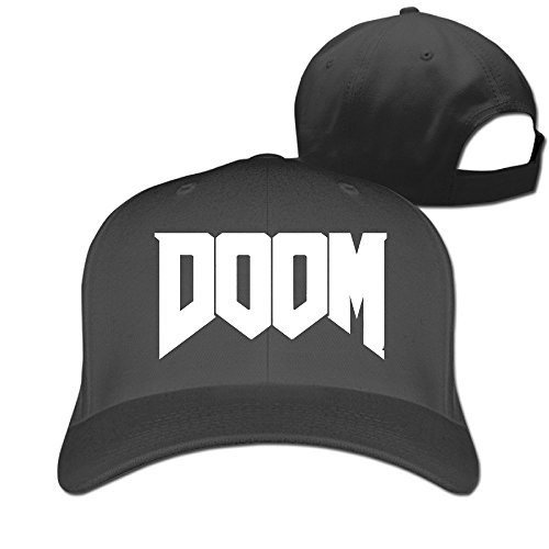 Huseki Novelty Unisex-Adult Doom 2016 Horror First-person Shooter Video Game Baseball Visor Cap Black Black