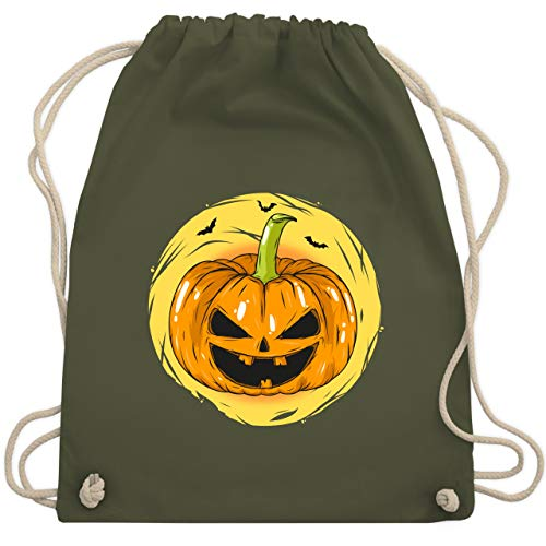 Halloween - Halloween Kürbis Gesicht - Unisize - Olivgrün - WM110 - Turnbeutel & Gym Bag