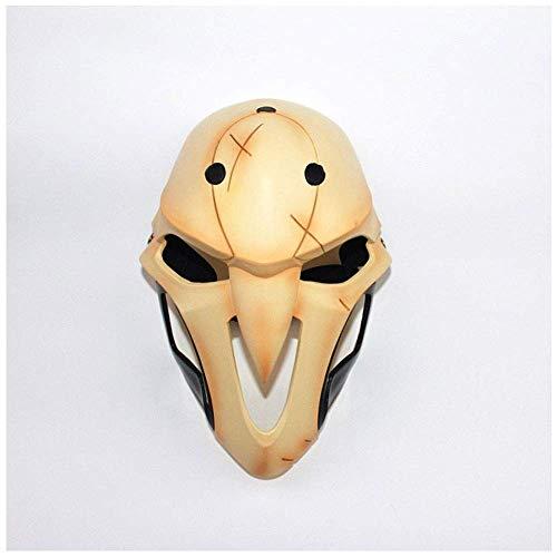 YaPin Halloween Spiel Uhr Pioneer 76 Soldaten Tod Black Lily Angel Cos Kleid Boutique Harz Maske