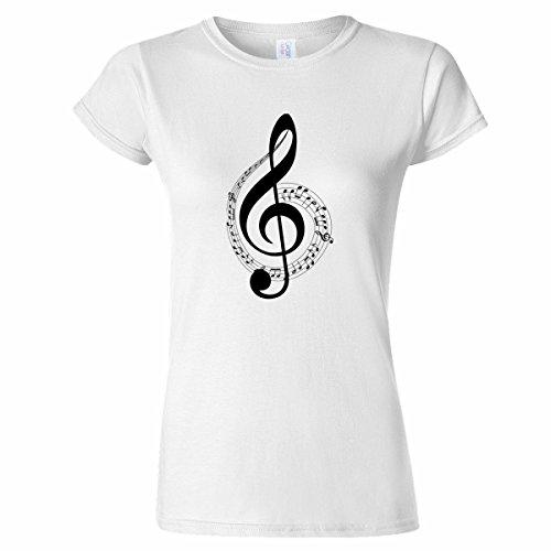 Pinchos Musical Note Art Womens T Shirt