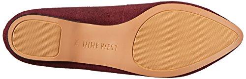 Nine West Sign Me Up Femmes Daim Chaussure Plate Dk Red