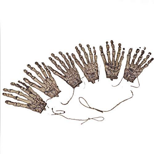 Halloween Party Set Terrorist Handschellen Halloween Requisiten Simulation Prothetische Hand 6 Gelb 1 Set für Festival Cosplay Halloween Kostüm