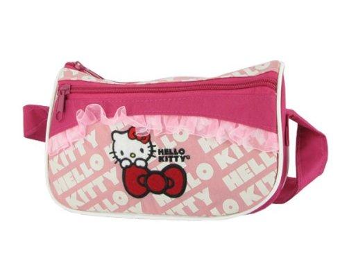 Alsino Hello Kitty Tasche Handtasche Messenger mit Fahrradbefestigung klein (Handtasche Hello Kitty)