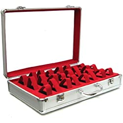 Yudu Watch Case Display Case for 24 Watches Nomination Bracelet Red