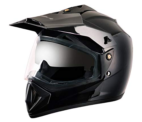 Vega Off Road OR-D/V-K_M Full Face Helmet (Black, M)