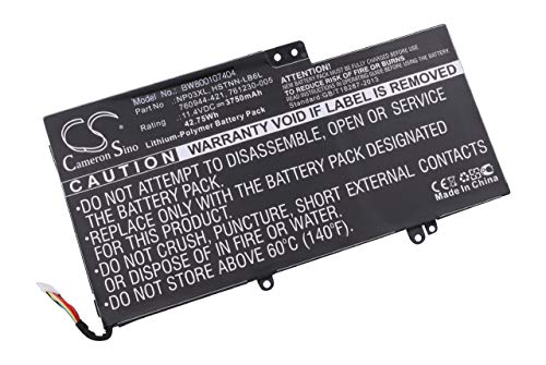 Batterie Li-Polymer 3750mAh (11.1V) vhbw pour Ordinateur Notebook HP Pavillion X360, X360 13-A010DX comme 760944-421, 761230-005, HSTNN-LB6L, NP03XL.
