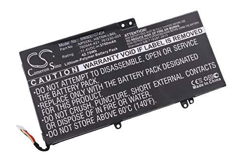 vhbw Batterie Li-Polymer 3750mAh (11.1V) pour Notebook HP Pavillion TPN-Q146, TPN-Q147, TPN-Q148 comme 760944-421, 761230-005, HSTNN-LB6L, NP03XL.